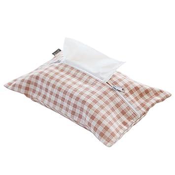 Portapañuelos de papel Lino de algodón Tela de papel bolsa de toalla de extracción de cartón