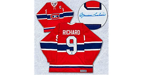 Maurice Rocket Richard Montreal Canadiens Autographed Retro CCM Hockey  Jersey - Signed Hockey Jerseys at Amazon s Sports Collectibles Store b3c9441bc