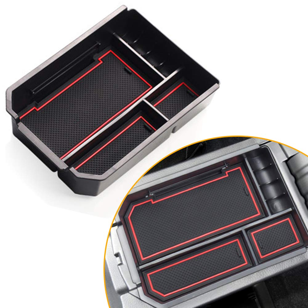 TOMALL Center Console Organizer Storage Armrest Box Secondary Tray Insert Compatible with Toyota RAV4 2014-2018