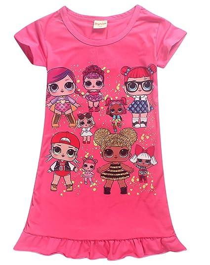 Kinder Mädchen Nachtwäsche Nachthemd Pyjamas Schlafanzug Sommer Freizeit Kleid