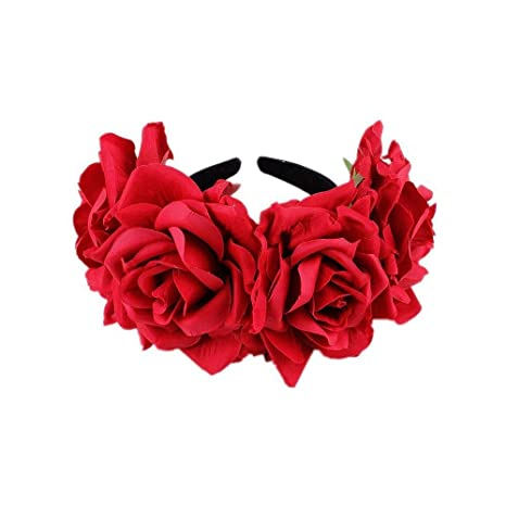 Qqzmd 123 Diadema Flower Garland - Floral Crown Natural para ...
