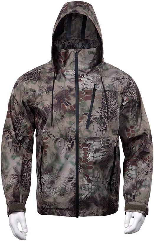 Al aire libre chaqueta impermeable kit hombres del estilo militar ...