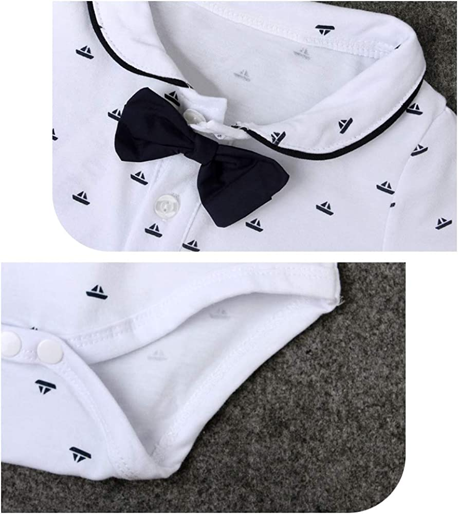 Infant Short Sleeve Shirt+Bib Pants+Bow Tie Overalls Clothes Set Outfit Yilaku Baby Boys Gentleman Outfits Suits