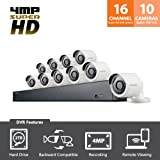 SDH-C85100BF - Samsung 16 Channel 4 MP Security System with 2TB Hard Drive, 10 Super HD Bullet Cameras, and 82' Night Vision