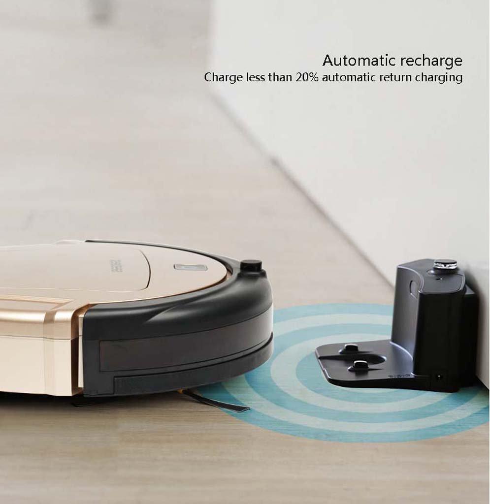 J&A Aspirador robótico, Robot de Barrido de Carga automática con Filtro HEPA de Alto Rendimiento y Control Remoto, Bueno para Pelo de Mascotas, ...