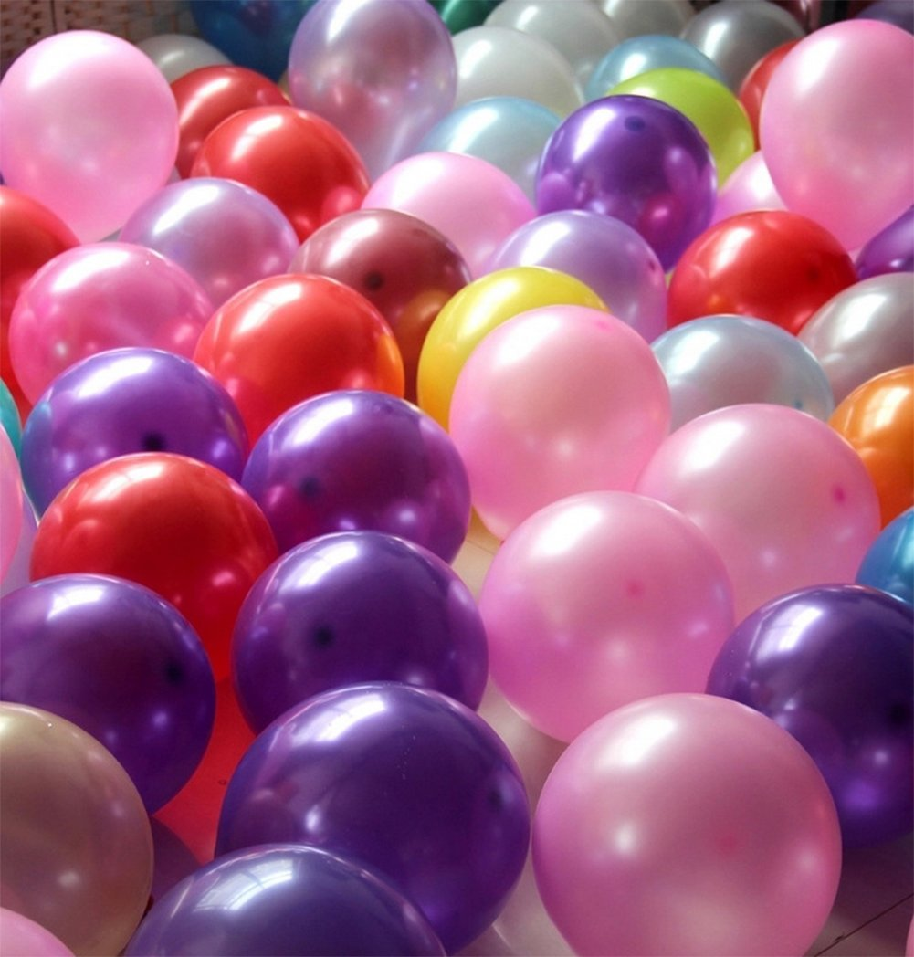 JUNGEN Balloons for Wedding and Hen Party Decoration in Assorted Color 10 Inches 100-Pack