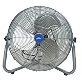 Iliving ILG8F21 Super Turbo High Velocity Floor Fan 7500CFM with 225W Motor, 20'', Silver