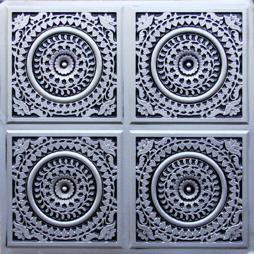 Affordable Tin Antique Silver Plastic Ceiling Tile Flat 24