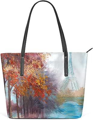 DEZIRO Pintura al óleo de la Torre Eiffel bolsos de hombro ...
