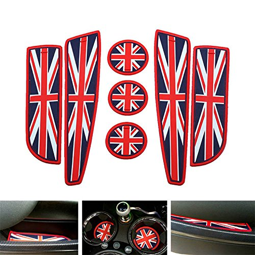 ijdmtoy-7pc-soft-silicone-red-blue-union-jack-style-cup-holder-coasters-side-door-compartment-mats-f