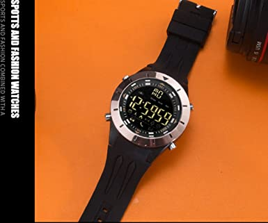 Amazon.com: Latest All Black Smart Sports Watch Fitness Smartwatch Waterproof Athletic Watches for Men Teenager: Watches