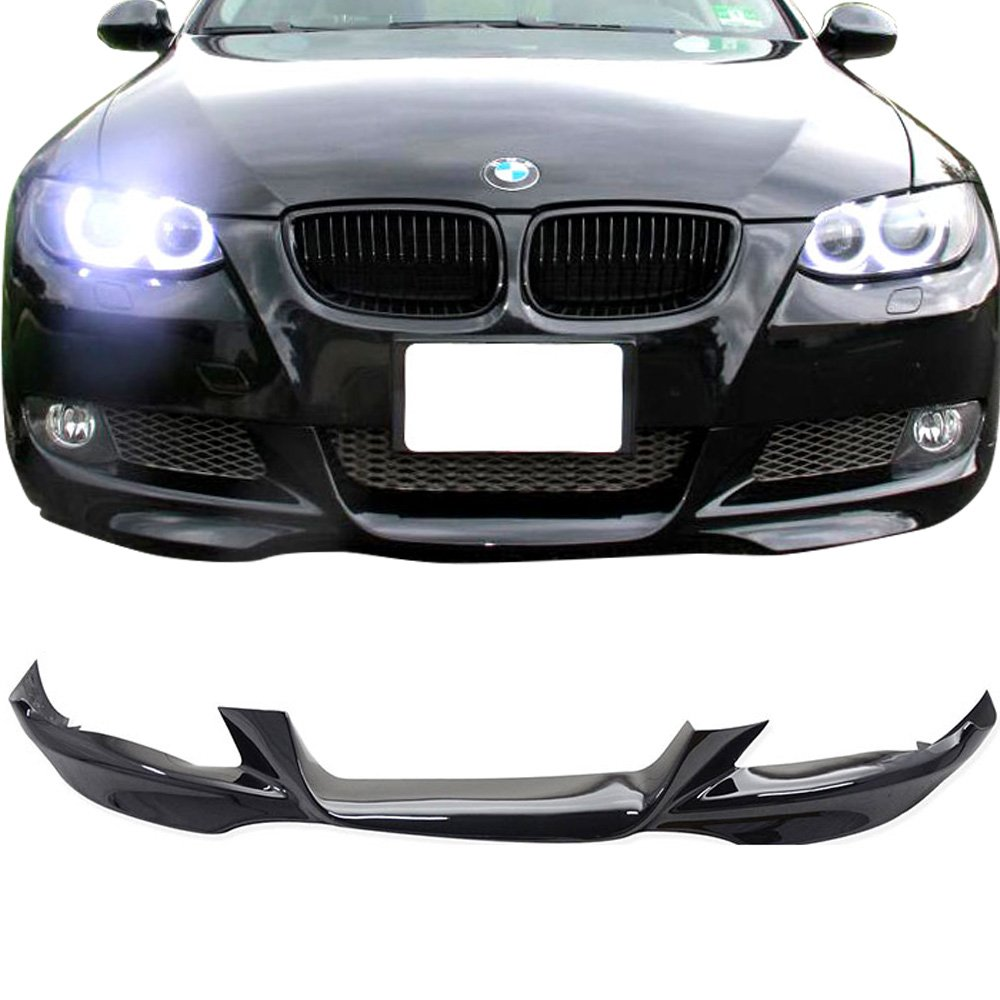 Pre-painted Front Bumper Lip Fits 2007-2010 BMW E92 E93 3 Series | MTech Style Painted Black Sapphire Metallic #475 PP Air Dam Chin Protector Front Bumper Lip other color available by IKON MOTORSPORTS