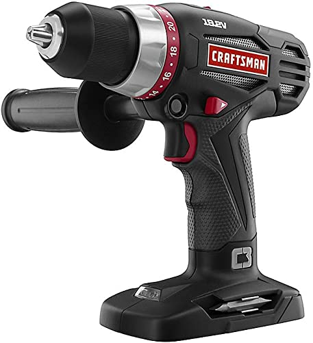 Craftsman C3 19.2 Volt Heavy Duty Drill Driver w Auxiliary Handle Model DD2101 Bare Tool, No Battery or Charger Included Bulk Packaged
