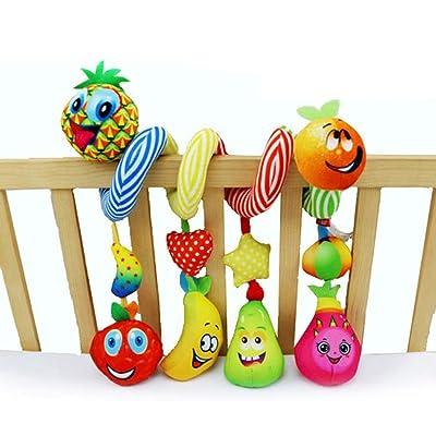 MAJINCGJ Newborn Baby Toy Fruit Bed Around Baby Fabric Toy Crib Bed Hanging Plush Fabric Rattle Toy : Baby