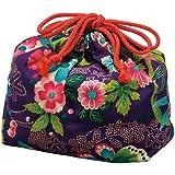Hakoya - Pochon boite à bento - Pourpre - Paradis floral