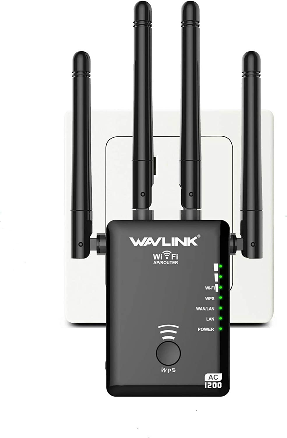 WiFi Signal Boosters Wireless Router Extender for 10 Devices 2 External Antennas Plug and Play 1200Mbps WiFi Range Extender 300Mbps 2.4GHz Wifi Extender Wifi Booster Wireless