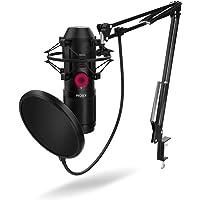 KROM KAPSULE - NXKROMKPSL - Kit de micrófono Streaming, unidireccional con Dos condensadores de cápsula, Audio 3.5mm…