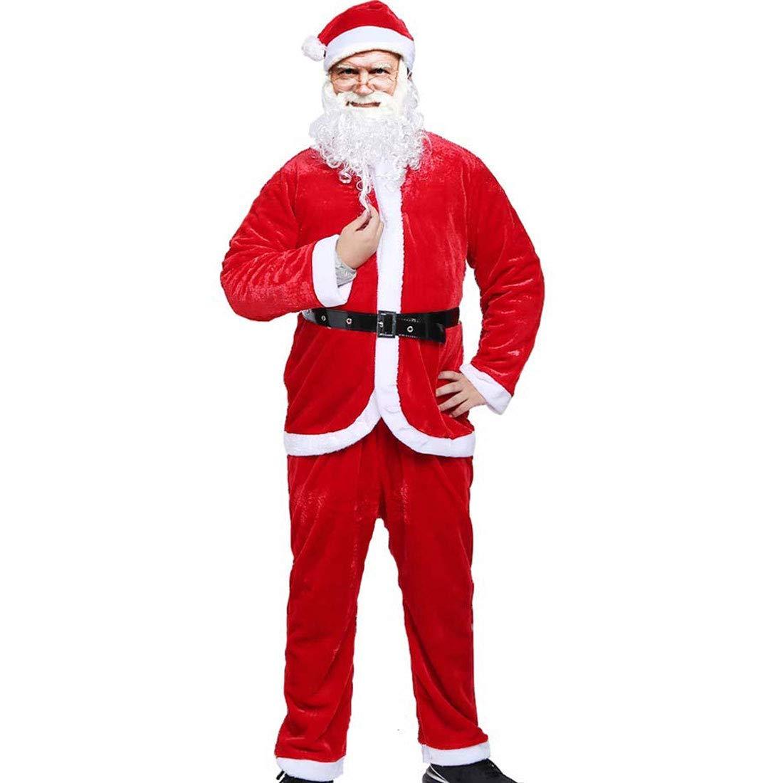 Amazon.com: Santa Claus - Disfraz de Papá Noel para hombre ...