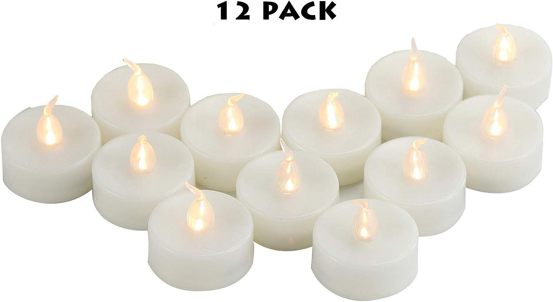 3 PCS Flameless Votive Candles Battery Operated Flickering LED Tea Light Xmas