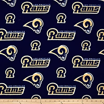 NFL Fleece Los Angeles Rams Purple Fabric By The Yard