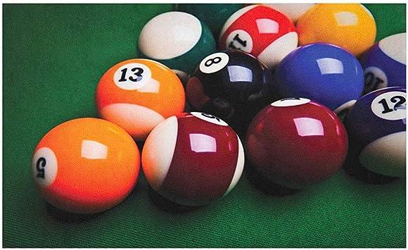 Marlon Kitty Felpudo de Billar, Foto de Bolas Coloridas con números en la Mesa de Billar de Entretenimiento, tapete: Amazon.es: Hogar