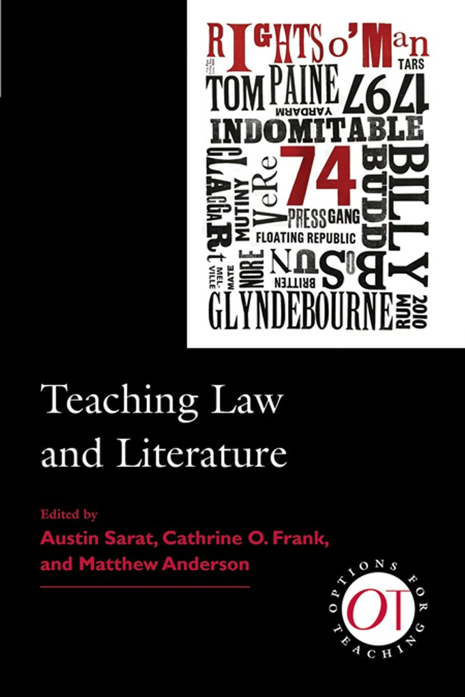 Teaching Law and Literature (Options for Teaching) by The Modern Language Association of America