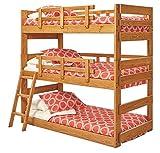 Chelsea Home Twin Triple Bunk Bed in Honey