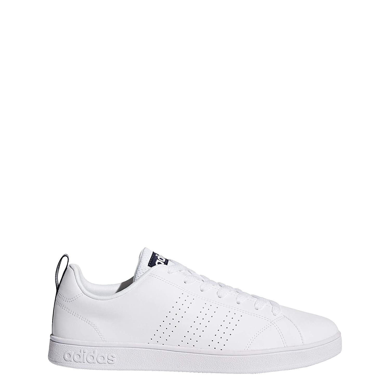 Adidas Cloudfoam Advantage Saubere Schuhe Weiß Silber