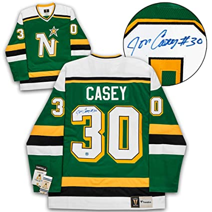 680e2221a25 Image Unavailable. Image not available for. Color: Jon Casey Minnesota  North Stars Autographed Fanatics Vintage Hockey Jersey