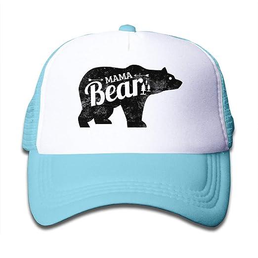 Amazon.com  Mama Bear 1 Kid s Mesh Back Cap Trucker Baseball Hat for ... 873d79bd5ab