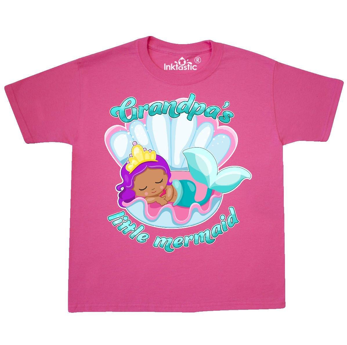 a2f1c7c0bea87 Amazon.com: inktastic Grandpa's Little Mermaid Youth T-Shirt: Clothing