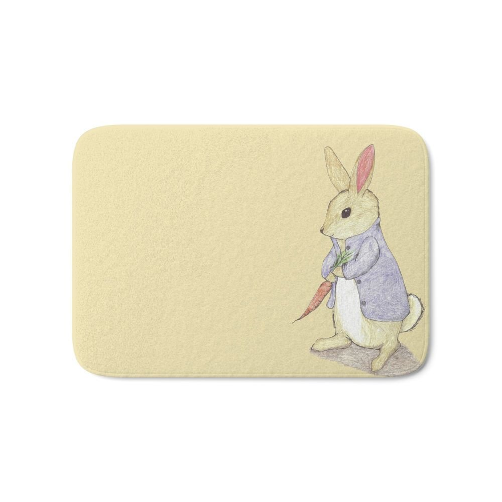 "Society6 Peter Rabbit Bath Mat 21"" x 34"""