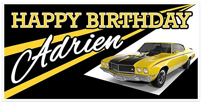 Amazon Com Classic Muscle Car Buick Gsx Birthday Banner