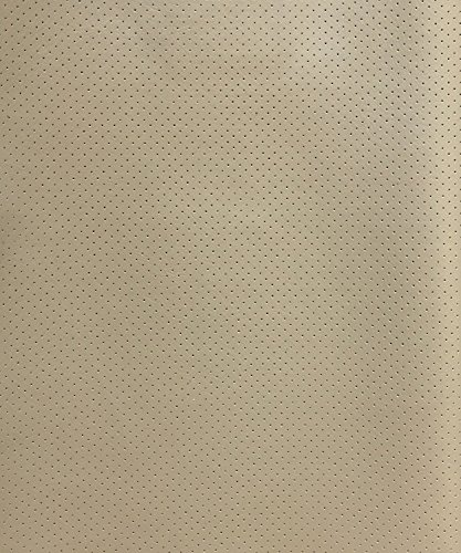 Vinyl Faux leather Light neutral Perforated All the way t...