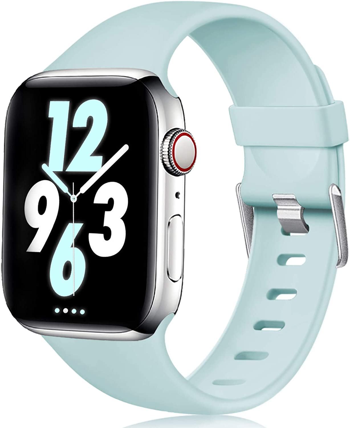 Laffav Compatible with Apple Watch Band 40mm 38mm 44mm 42mm for Women/Men, Soft Sport Bands Replacement Strap Accessory for iWatch Apple Watch SE & Series 6 5 4 3 2 1
