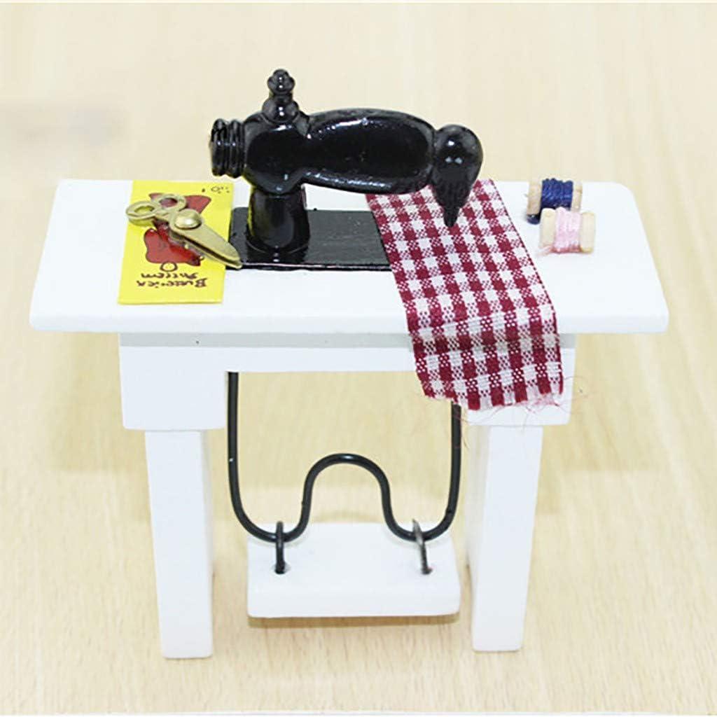 Dapei 1/12 DIY casa de muñecas muebles simulación retro máquina de ...