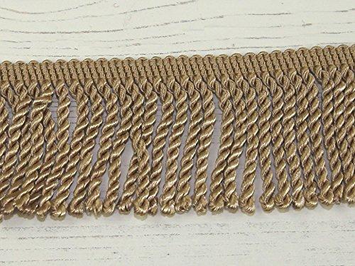 50mm Bullion Fringe Trimming Beige - per metre Minerva Crafts