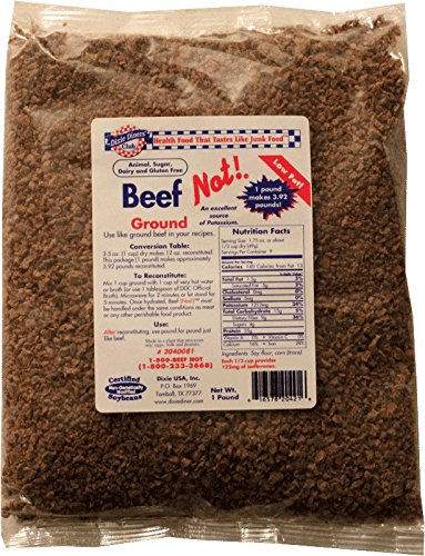 - Dixie Diners' Club - Beef (Not!) Ground, 1 lb bag (Pack of 2)