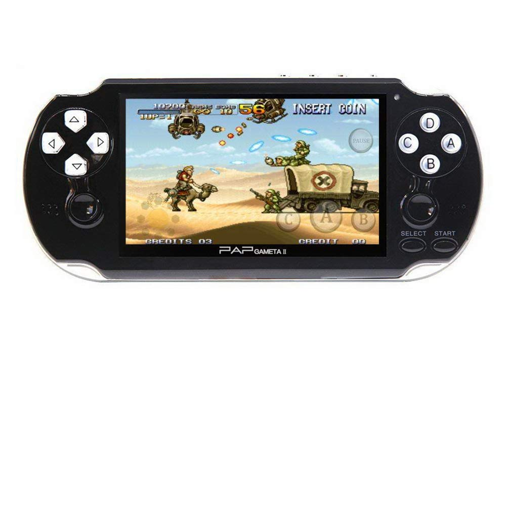 CZT Dual core 4.3 inch Handheld Game Console Video Game Console 16GB Built in 3000 CPS/NEOGEO/GBA/GBC/GB/SFC/MD/FC/SMS/GG Games MpS Player DV DC (Black)