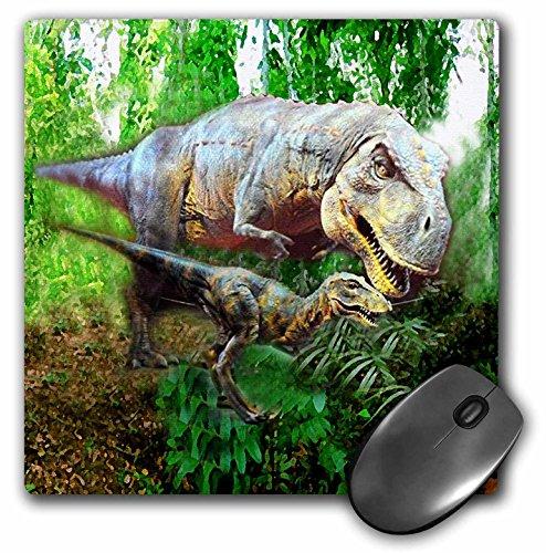 Dinosaur Photograph - 3dRose LLC 8 x 8 x 0.25 Inches Dinosaurs Mouse Pad (mp_4096_1)