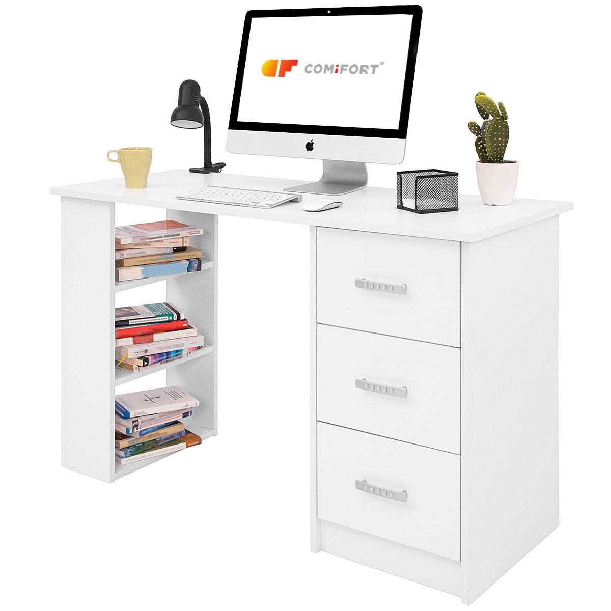 Mesas de estudio blancas finest mesa consola escritorio for Ordenadores para oficina