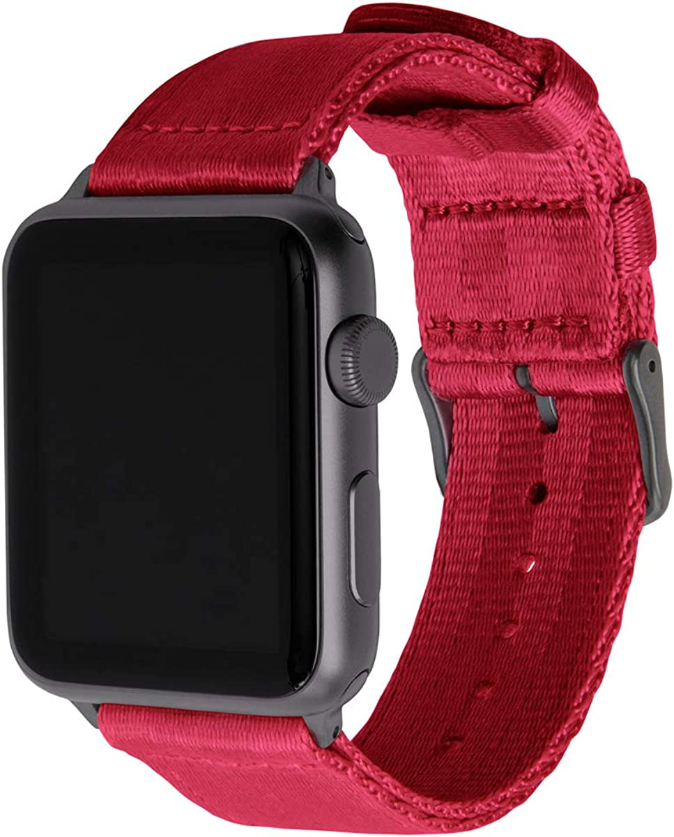 Archer Watch Straps - Seat Belt Nylon Watch Bands for Apple Watch   Multiple Colors, 38/40mm, 42/44mm
