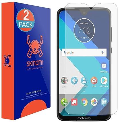 Motorola Moto G7 Screen Protector (Moto G7 Plus)(2-Pack), Skinomi MatteSkin  Full Coverage Screen Protector for Motorola Moto G7 Anti-Glare and