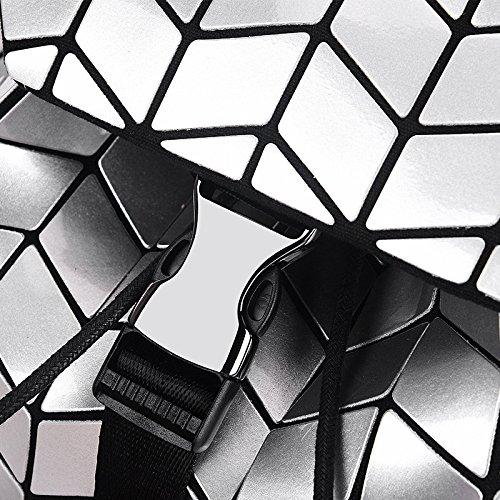 Zaino Vernice Viaggio Sacchetto Lato In Bianco Scuola Luminoso Geometria Diamanti Wlfhm Di Piega wxqpEX8Y