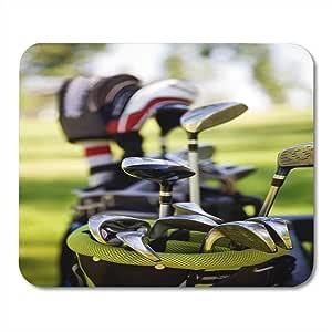 Alfombrillas de ratón Campo verde Bolsa de palos de golf ...