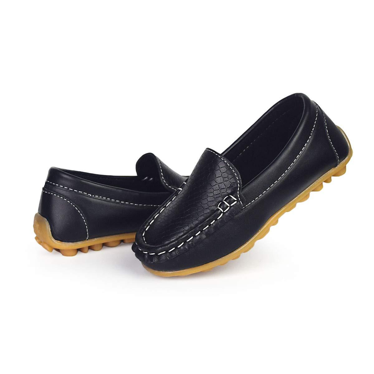 Sakuracan Boys Girls Leather Loafers Slip-on Boat Dress-Shoes (Toddler/Little Kid) by Sakuracan (Image #3)
