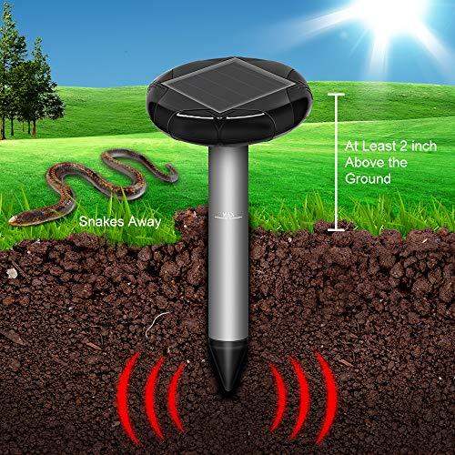 SEALUXE Snake Repellent for Outdoors, Solar Powered Snake Repellent, Snake Away,Get Rid of Snakes,Snake Gone,Out Outdoor Snake Repellent- 2 Pack