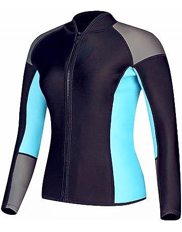 11fbd5d5be8 EYCE DIVE   SAIL Women s 1.5 mm Wetsuits Jacket Long Sleeve Neoprene Wetsuit  Top