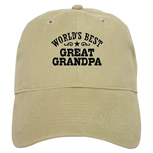 9af7f237551 CafePress - World s Best Great Grandpa Cap - Baseball Cap with Adjustable  Closure