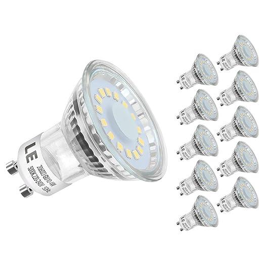 28 opinioni per LE 10 Lampadine faretti LED GU10, 4W Pari ad alogene da 50W, MR16 350lm Luce